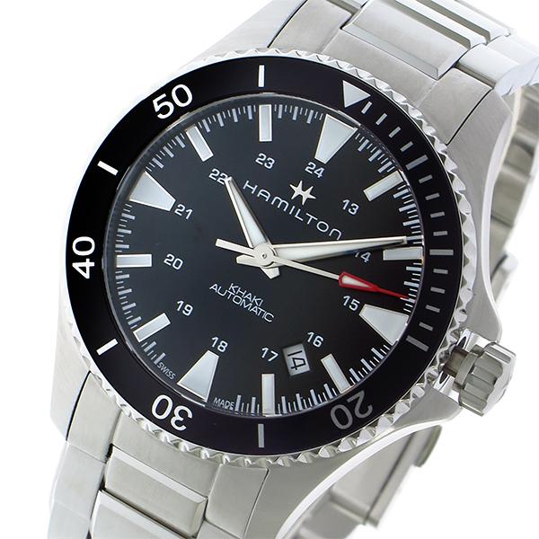 ハミルトン HAMILTON カーキ ネイビー スキューバ Khaki Navy Scuba 自動巻き 腕時計 H82335131 ブラック/シルバー