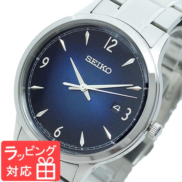 セイコー SEIKO 腕時計 メンズ SGEH89P1 クオーツ ネイビー シルバー