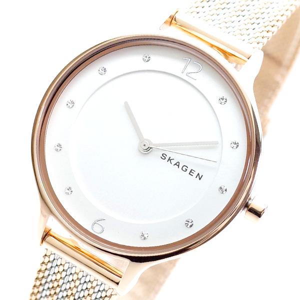 スカーゲン SKAGEN 腕時計 レディース SKW2749 ANITA クオーツ ホワイト ピンクゴールド