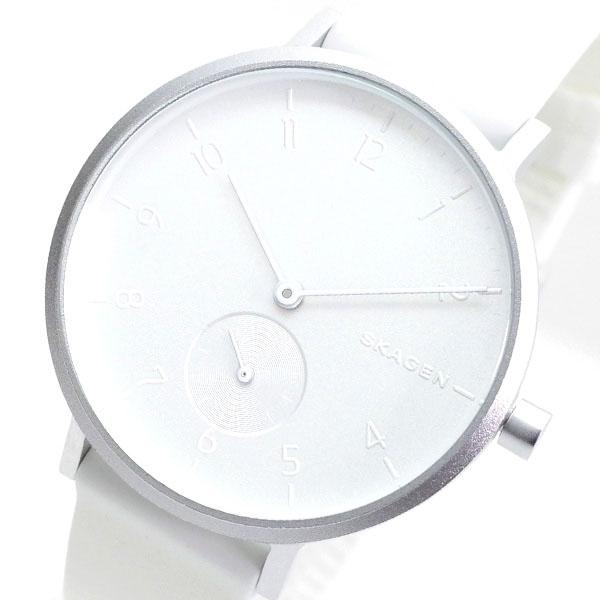 スカーゲン SKAGEN 腕時計 レディース SKW2763 AAREN クオーツ シルバー ホワイト