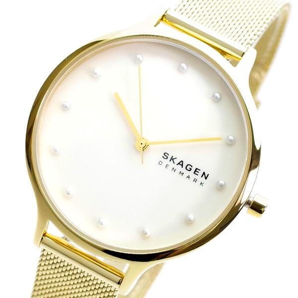 スカーゲン SKAGEN 腕時計 レディース SKW2774 ANITA クオーツ ホワイトシェル ゴールド