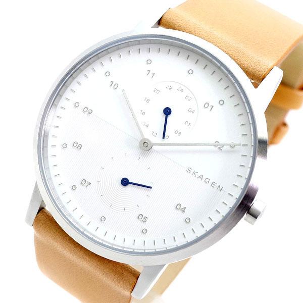 スカーゲン SKAGEN 腕時計 メンズ SKW6498 KRISTOFFER クオーツ ホワイト ライトブラウン