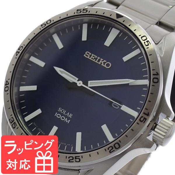 【3年保証】 セイコー SEIKO 腕時計 メンズ SNE483P1 ソーラー SOLAR クオーツ ネイビー シルバー