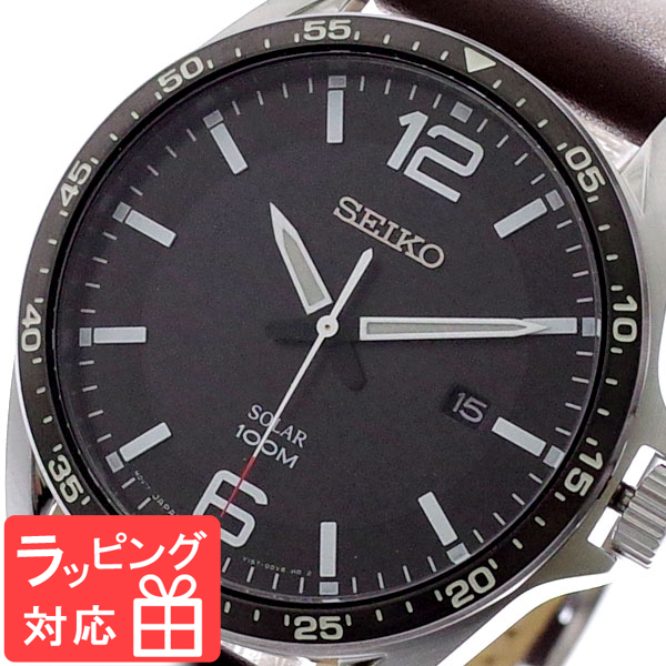 【3年保証】 セイコー SEIKO 腕時計 メンズ SNE487P1 ソーラー SOLAR クオーツ ブラック ブラウン