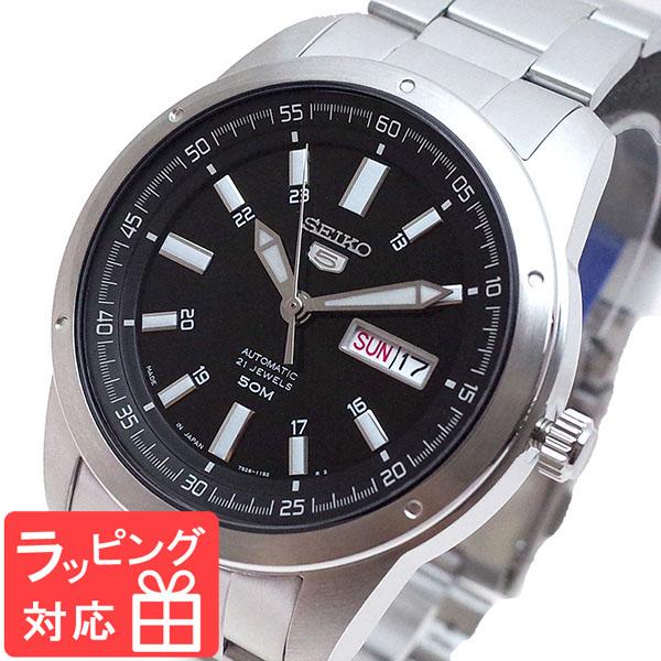 【3年保証】 セイコー SEIKO 腕時計 メンズ SNKN13J1 セイコー5 SEIKO5 自動巻き ブラック シルバー