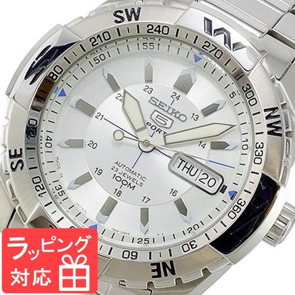 【3年保証】 セイコー SEIKO セイコー5 スポーツ 5 SPORTS 自動巻き メンズ 腕時計 SNZJ03J1 シルバー
