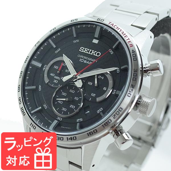 【3年保証】 セイコー SEIKO 腕時計 メンズ SSB355P1 クオーツ ブラック シルバー