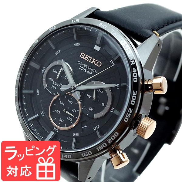 セイコー SEIKO 腕時計 メンズ SSB361P1 Quartz Watch 50th Anniversary クオーツ ブラック
