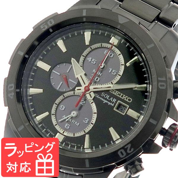 セイコー SEIKO 腕時計 メンズ SSC559P1 ソーラー SOLAR クオーツ ブラック ガンメタ