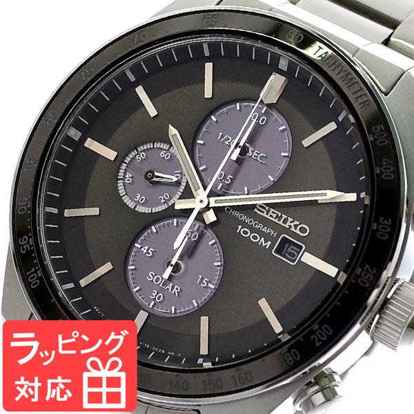 【3年保証】 セイコー SEIKO 腕時計 メンズ SSC715P1 ソーラー SOLAR クオーツ ガンメタ シルバー