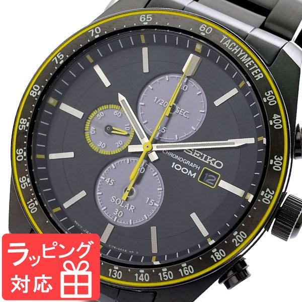 【3年保証】 セイコー SEIKO 腕時計 メンズ SSC723P1 ソーラー SOLAR クオーツ ブラック ガンメタ