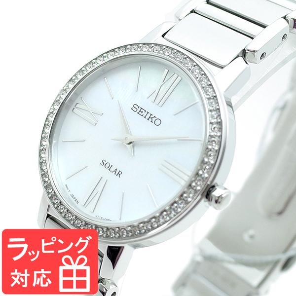 【3年保証】 セイコー SEIKO 腕時計 レディース SUP431P1 SEIKO SOLAR クオーツ オーロラホワイト シルバー