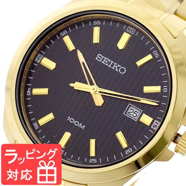 【3年保証】 セイコー SEIKO 腕時計 メンズ SUR282P1 クオーツ ブラック ゴールド