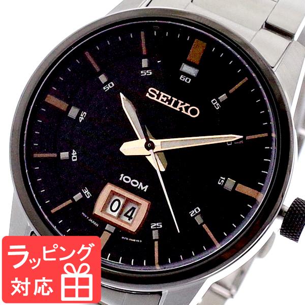 【3年保証】 セイコー SEIKO 腕時計 メンズ SUR285P1 クオーツ ブラック シルバー