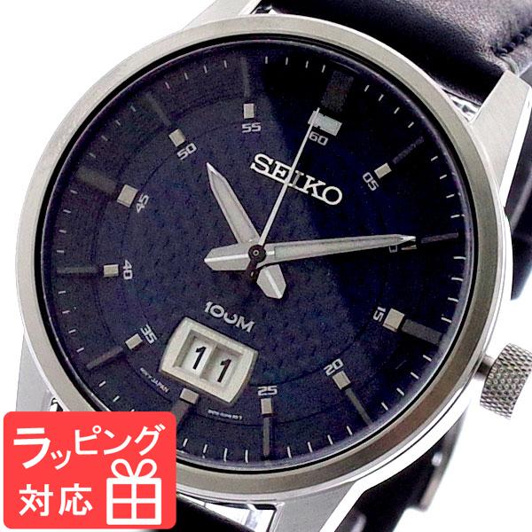 【3年保証】 セイコー SEIKO 腕時計 メンズ SUR287P1 クオーツ ネイビー シルバー
