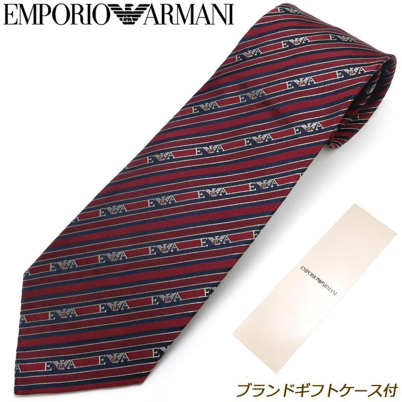 エンポリオ アルマーニ EMPORIO ARMANI ネクタイ ブランドギフトケース付 19年秋冬モデル 19A/W シルク 8P617-00176 メンズ 男性 プレゼント ギフト ブランド ビジネス おしゃれ