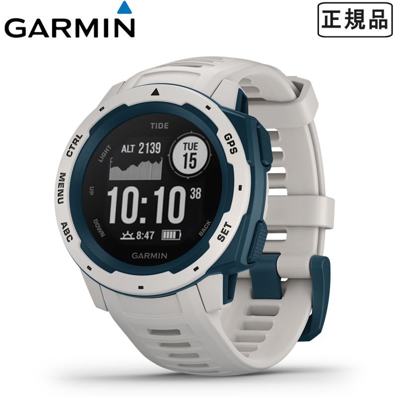 【1年保証付き】【国内正規品】 ガーミン GARMIN 正規品 Instinct Tide White/Blue インスティンクトタイド メンズ スマートウォッチ 腕時計 ホワイト ブルー 010-02064-A2 【あす楽】