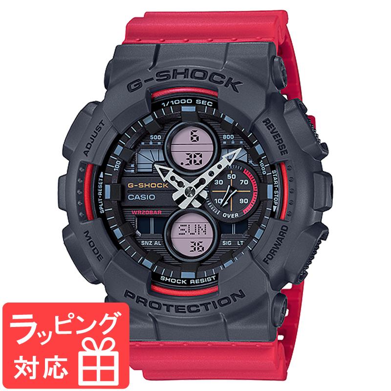 【名入れ対応】 カシオ CASIO G-SHOCK Gショック BASIC メンズ 腕時計 レッド ブラック GA-140-4ADR GA-140-4A 海外モデル