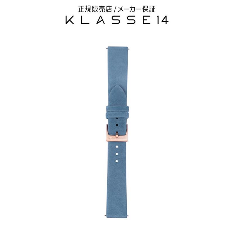 クラスフォーティーン KLASSE14 Miss Volare Rose Gold Buckle / Adriatic Blue Suede Strap 17mm 腕時計 替えベルト ブルー BDVOMV008W クラス14 class14