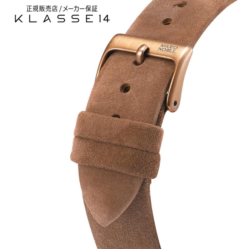 クラスフォーティーン KLASSE14 Volare Vintage Gold Buckle / Brown Suede Strap 20mm 腕時計 替えベルト ブラウン BDVOVG001M クラス14 クラッセ14 class14