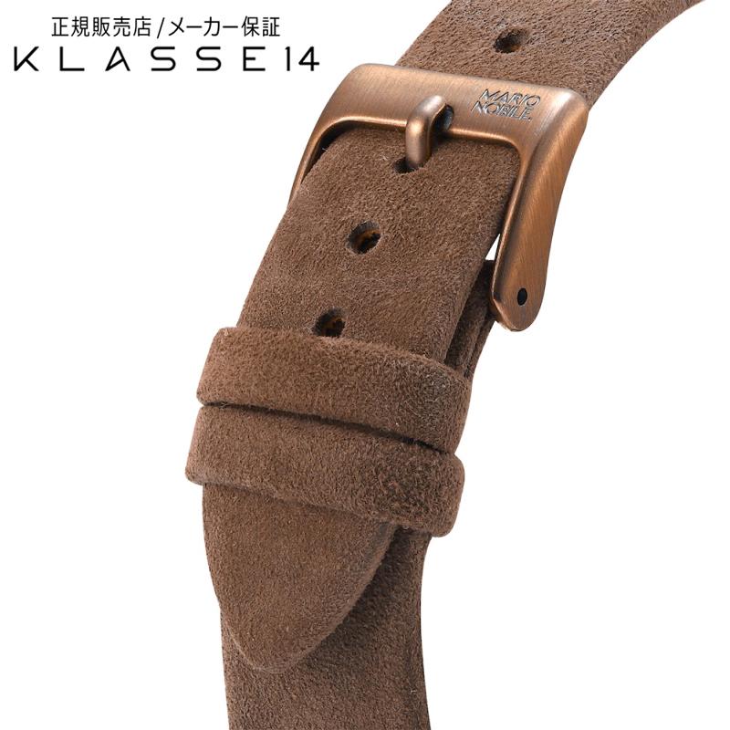 クラスフォーティーン KLASSE14 Volare Vintage Gold Buckle / Brown Suede Strap 17mm 腕時計 替えベルト ブラウン BDVOVG001W クラス14 クラッセ14 class14