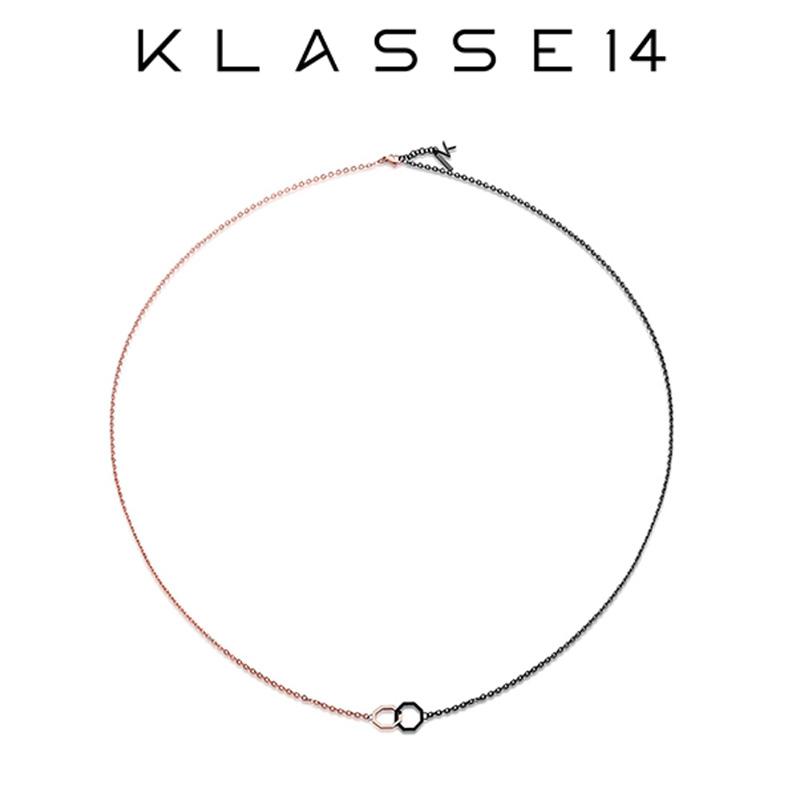 クラスフォーティーン KLASSE14 OKTO Twin Pendant Rose Gold & Black ネックレス ペンダント ローズゴールド OP18RB001M レディース アクセサリー プレゼント 女性 クラス14 クラッセ14 class14