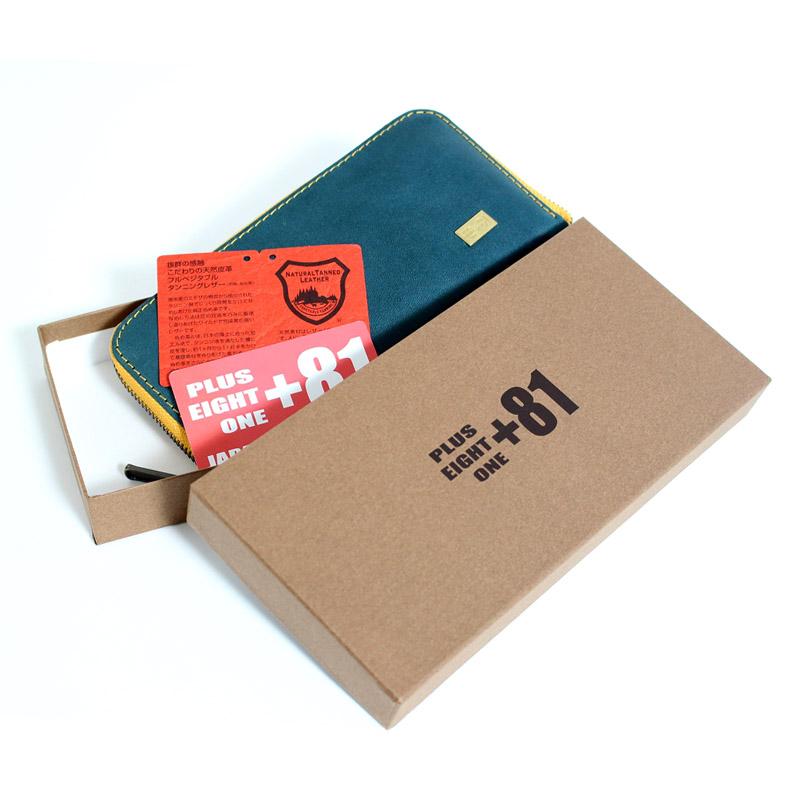 プラス エイト ワン PULUS EIGHT ONE81 栃木レザー 刻印無料 名入れ Made In Japan 日本製 長財布 キャメル ブラック イエロー ネイビー ダークブラウンUMVzSp