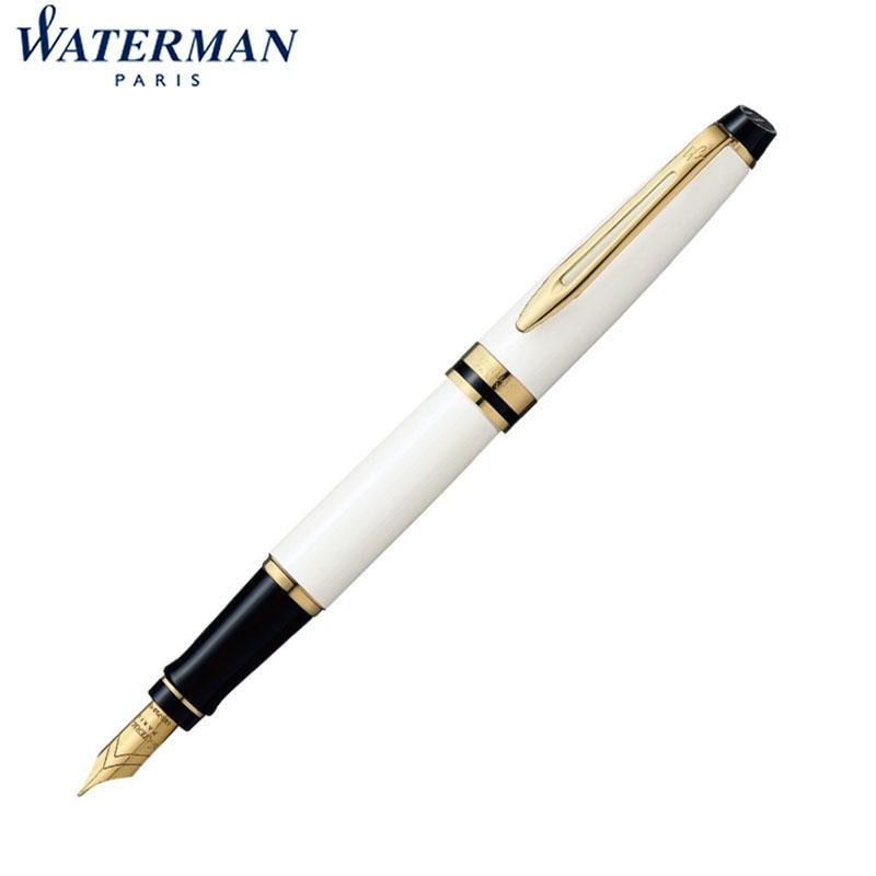 ウォーターマン Waterman EXPERT エキスパート エッセンシャル アイボリーGT 万年筆 18金ペン先 ペン先:M 2103840 名入れ可能