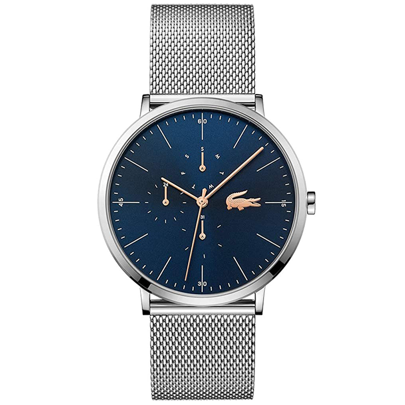 ラコステ LACOSTE メンズ 腕時計 2011024 ブルー シルバー カレンダー おしゃれ プレゼント ブランド 時計 ギフト
