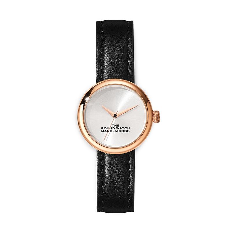 品質検査済 マーク ジェイコブス THE MARC JACOBS The Round Watch ザ ラウンド ウォッチ レディース 腕時計 32mm シルバー ブラック レザー MJ0120179283 M8000727-005, スノーボードとスポーツのPeace a507d365