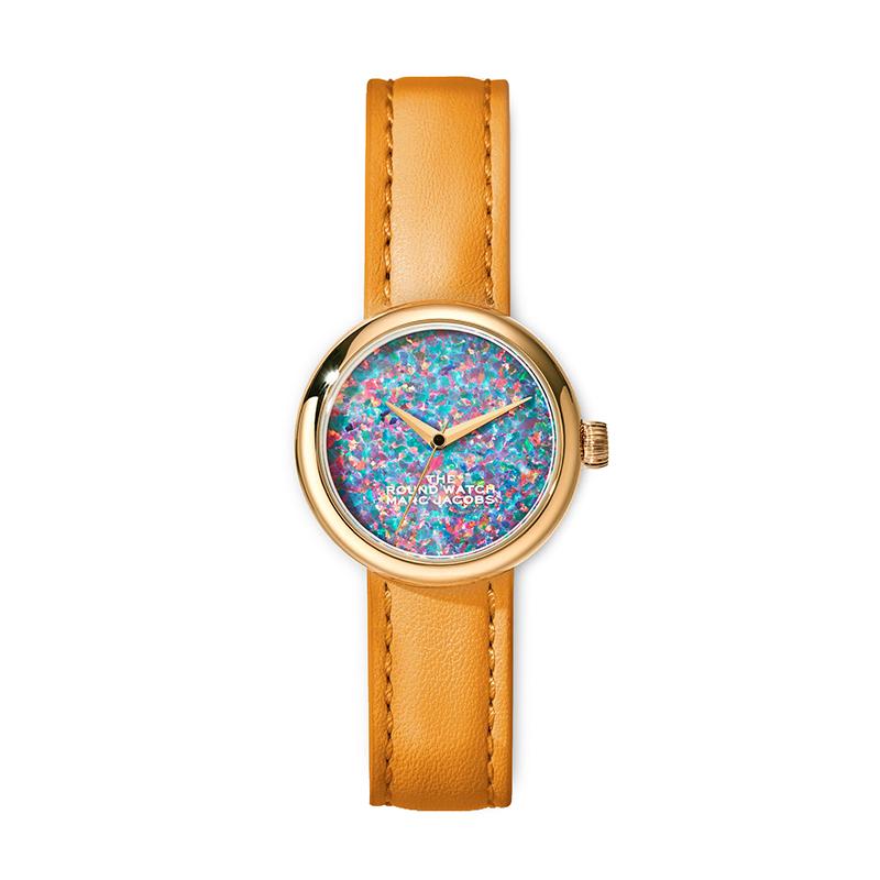 マーク ジェイコブス THE MARC JACOBS The Round Watch ザ ラウンド ウォッチ レディース 腕時計 32mm ブルー ゴールド レザー MJ0120179284 M8000728-802
