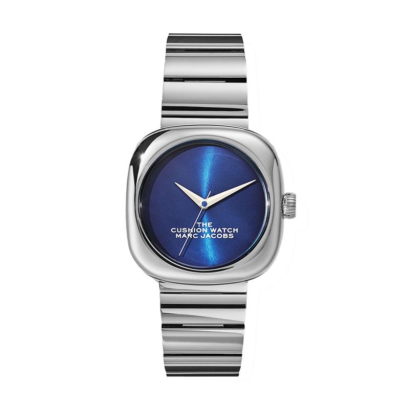 マーク ジェイコブス THE MARC JACOBS The Cushion Watch ザ クッション ウォッチ レディース 腕時計 36mm ブルー シルバー MJ0120179300 M8000732-025
