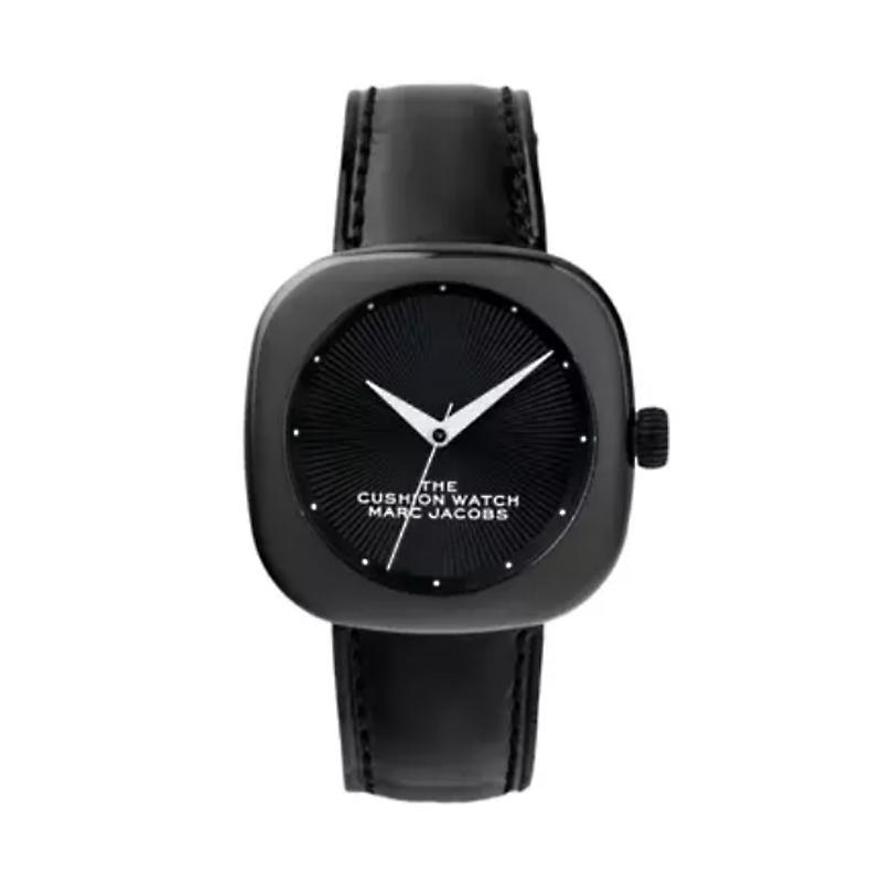 マーク ジェイコブス THE MARC JACOBS The Cushion Watch ザ クッション ウォッチ レディース 腕時計 36mm ブラック セラミック レザー MJ0120184708