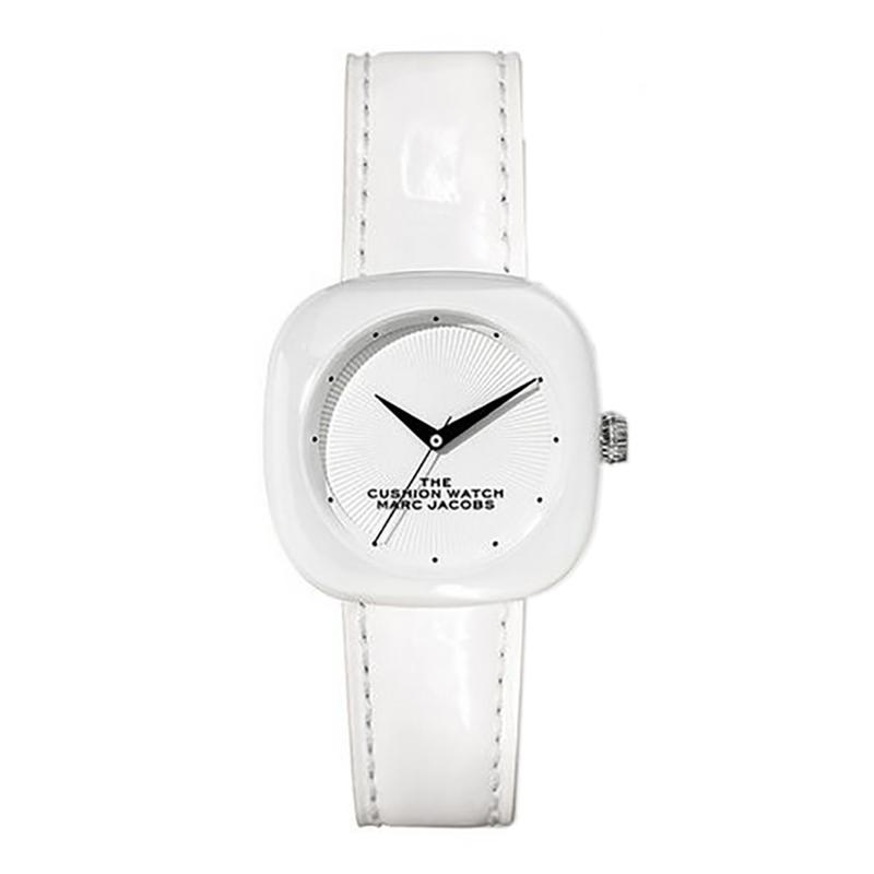 マーク ジェイコブス THE MARC JACOBS The Cushion Watch ザ クッション ウォッチ レディース 腕時計 36mm ホワイト セラミック レザー MJ0120184709