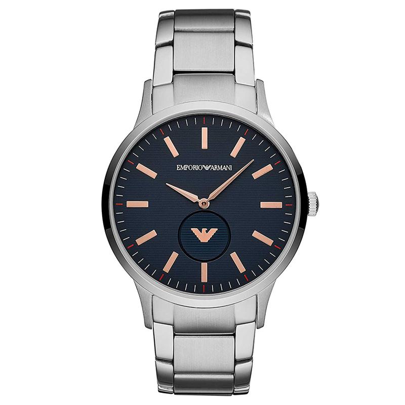 エンポリオ アルマーニ EMPORIO ARMANI ダークネイビー ローズゴールド シルバー メンズ 腕時計 ブランド おしゃれ AR11137