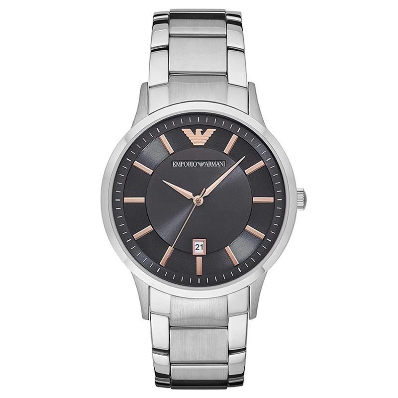 エンポリオ アルマーニ EMPORIO ARMANI ブラック ローズゴールド シルバー メンズ 腕時計 ブランド おしゃれ AR11179