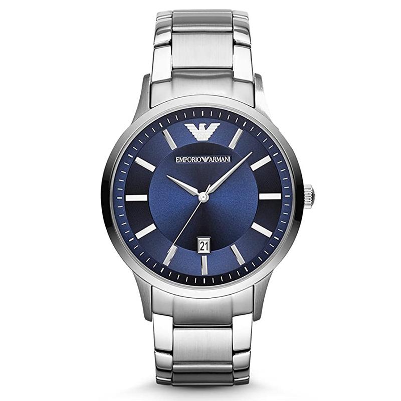 エンポリオ アルマーニ EMPORIO ARMANI ネイビー ブルー シルバー メンズ 腕時計 ブランド おしゃれ AR11180