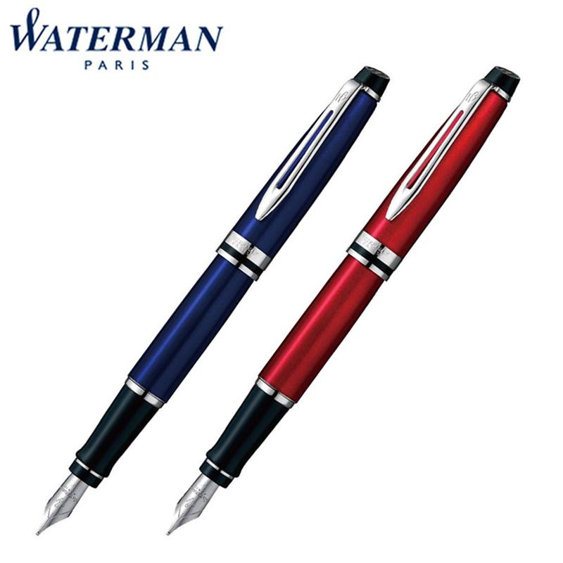 【国内代理店正規商品】ウォーターマン Waterman EXPERT エキスパート エッセンシャル 万年筆 ペン先:F M ダークブルーCT ダークレッドCT