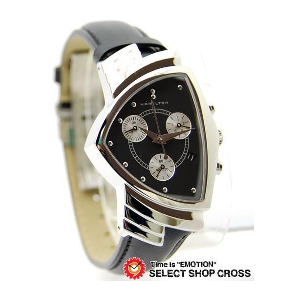 ハミルトン HAMILTON メンズ 腕時計 アナログ ベンチュラ・クロノ H24412732 ブラック 黒 【男性用腕時計 リストウォッチ ランキング ブランド 防水 カラフル】