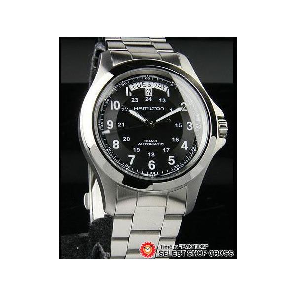 ハミルトン HAMILTON メンズ 腕時計 アナログ KHAKI KING H64455133 ブラック 黒 【男性用腕時計 リストウォッチ ランキング ブランド 防水 カラフル】