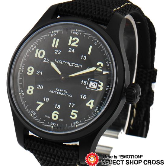 ハミルトン HAMILTON Khaki Field カーキ フィールド メンズ 腕時計 自動巻き H70575733 ブラック 黒 【男性用腕時計 リストウォッチ ランキング ブランド 防水 カラフル】