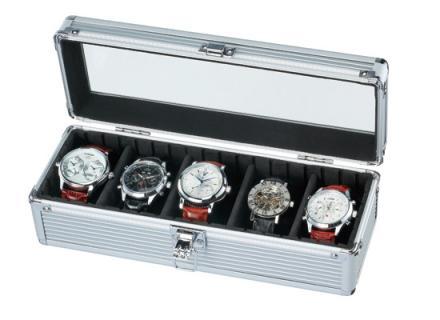 エスプリマ 5本収納時計アルミケース 腕時計用ケース ディスプレイケース コレクションケース SE54015AL 腕時計 ケース 収納ケース ケース 収納 【あす楽】