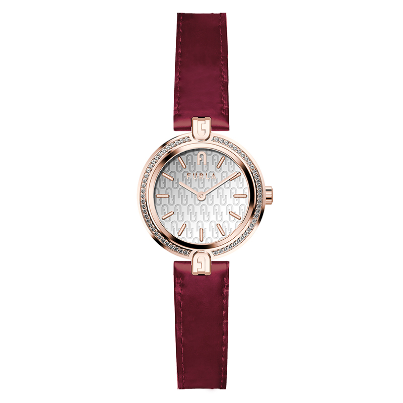 カジュアルからビジネスシーンまで使える時計 財布 バッグ 筆記具を多数ご用意しております プレゼント選びに是非ご覧ください クリスマス 誕生日 記念日 バレンタイン ホワイトデー フルラ FURLA 国内正規代理店品 大人気 LOGO シルバー 腕時計 ロゴ レディース リンクス WW00006005L3 女性 28mm 予約販売 LINKS レッドレザー スワロフスキー あす楽 プレゼント