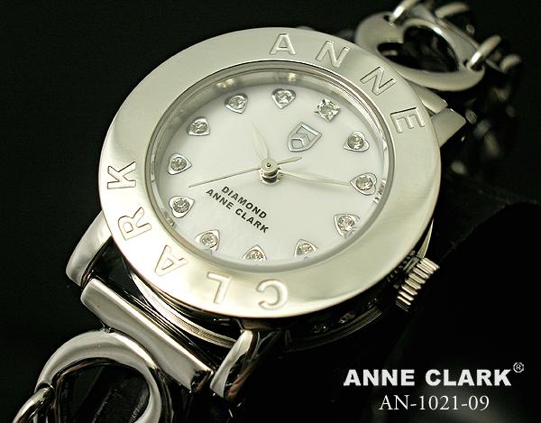 アンクラーク ANNE CLARK レディース 腕時計 ブランド アナログ 天然シェル文字盤 ハート ブレスウォッチ AN1021-09 ホワイト 白/シルバー