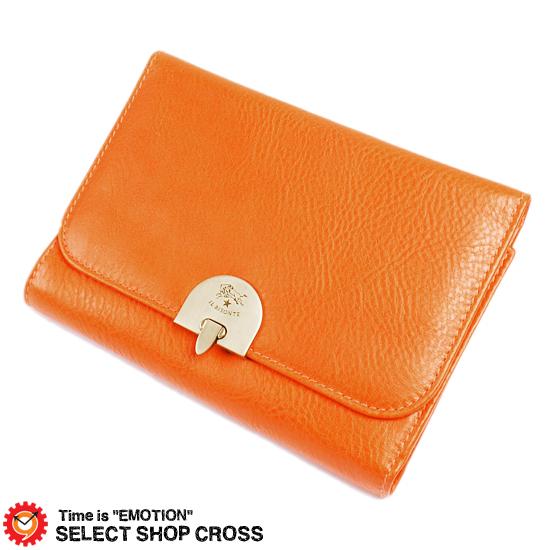 イルビゾンテ IL BISONTE レザー 革 三つ折り財布 C0850-P-166 オレンジ Orange 正規品 【あす楽】