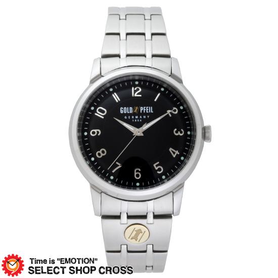 GOLD PFEIL ゴールドファイル スタンダード3針モデル メンズ 腕時計 G21001SB ブラック 黒 【 正規品 】 【男性用腕時計 リストウォッチ ランキング ブランド 防水 カラフル】