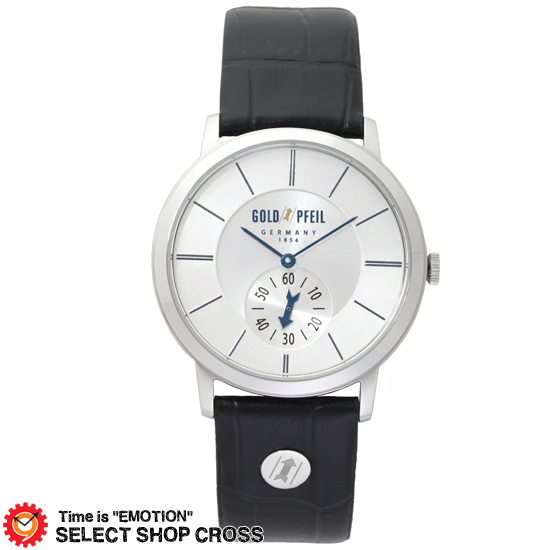 GOLD PFEIL ゴールドファイル スモールセコンドモデル メンズ 腕時計 G21003SS ブラック 黒 【 正規品 】 【男性用腕時計 リストウォッチ ランキング ブランド 防水 カラフル】