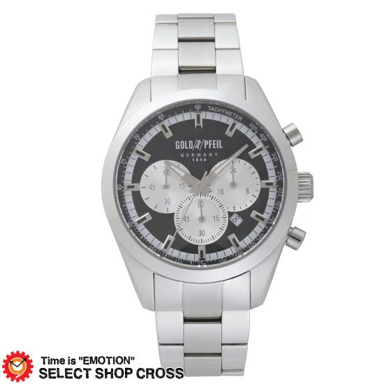 GOLD PFEIL ゴールドファイル クロノグラフシリーズ メンズ 腕時計 G41006SB シルバー 【 正規品 】 【男性用腕時計 リストウォッチ ランキング ブランド 防水 カラフル】