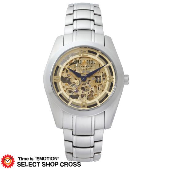 GOLD PFEIL ゴールドファイル スケルトン自動巻きシリーズ メンズ 腕時計 G51007SC シルバー 【 正規品 】 【男性用腕時計 リストウォッチ ランキング ブランド 防水 カラフル】