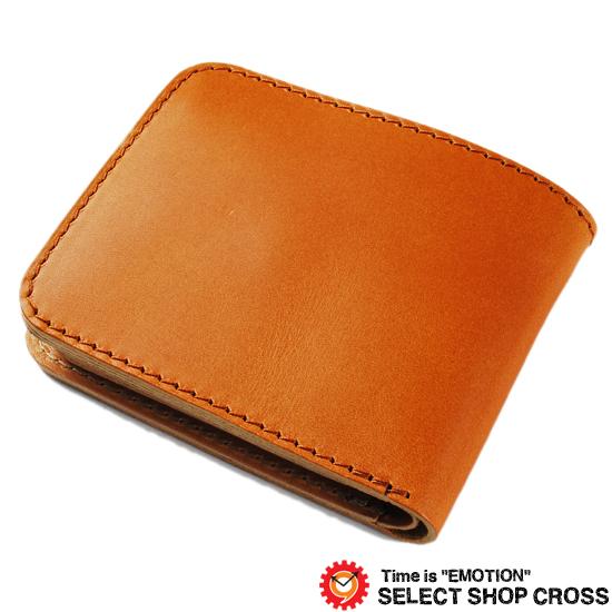 栃木レザー伝統の栃木レザーウォレット 二つ折り財布 純国産とハンドメイドにこだわった匠の財布 JP-2000-CA キャメル/ナチュラル